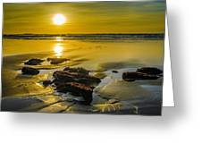 One Oregon Coast Sunset Greeting Card by Puget  Exposure