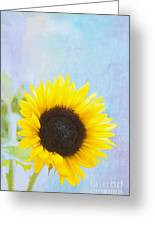 One Sunflower Greeting Card by Kay Pickens