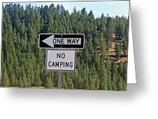 One Way Greeting Card by Larry Stolle