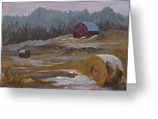 One Wintry Day Greeting Card by Bev Finger