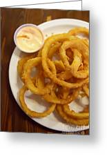 Onion Rings Greeting Card by Kay Pickens