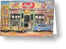 Ontario Street East 1938 Greeting Card by Michael Litvack