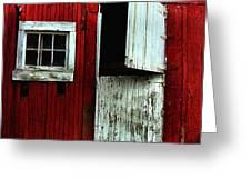 Open Barn Door Greeting Card by Julie Dant