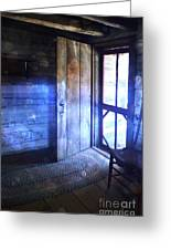 Open Cabin Door With Orbs Greeting Card by Jill Battaglia