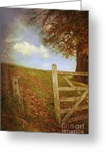 Open Country Gate Greeting Card by Amanda And Christopher Elwell
