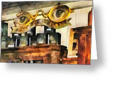 Optometrist - Spectacles Shop Greeting Card by Susan Savad
