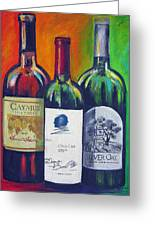 Opus One Caymus And  Silver Oak Greeting Card by Sheri  Chakamian