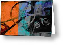 Orange And Blue  Greeting Card by Ann Powell