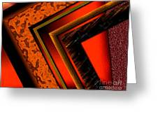 Orange And Brown  Greeting Card by Mario Perez