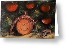 Orange Clover Christmas Greeting Card by Laurie D Lundquist
