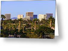 Orange County California Office Buildings Picture Greeting Card by Paul Velgos