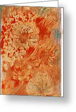 Orange Fantasia Greeting Card by Anne-Elizabeth Whiteway