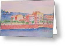 Orange Fisherman's Island Greeting Card by Rhonda Leonard
