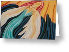 Orange Glow Angel Greeting Card by Mike Manzi