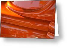 Orange Hotrod Greeting Card by Dean Ferreira
