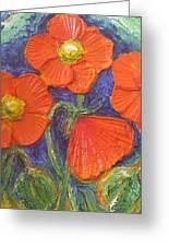 Orange Poppies Greeting Card by Paris Wyatt Llanso