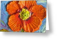 Orange Poppy II Greeting Card by Paris Wyatt Llanso