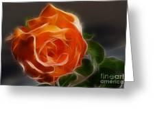 Orange Rose 6220-fractal Greeting Card by Gary Gingrich Galleries