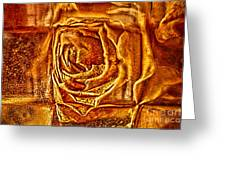 Orange Rose Greeting Card by Omaste Witkowski
