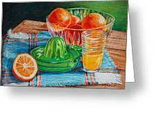 Oranges Greeting Card by Joy Nichols