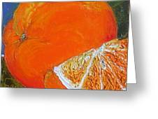 Oranges Greeting Card by Paris Wyatt Llanso