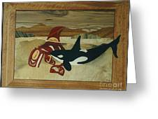 Orca Spirit Greeting Card by Jeff Adshead