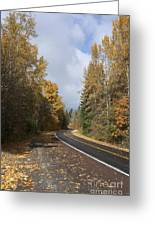 Oregon Autumn Highway Greeting Card by Peter French