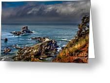 Oregon Coast Greeting Card by Robert Bales