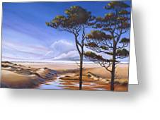 Oregon Dunes On The Coast Greeting Card by Pat Cross