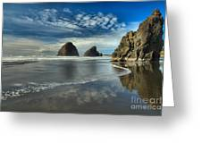 Oregon Sea Stack Surf Greeting Card by Adam Jewell
