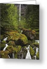 Oregon's Watson Falls Greeting Card by Andrew Soundarajan
