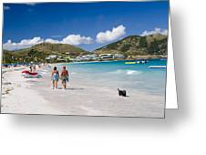 Orient Beach In St Martin Fwi Greeting Card by David Smith