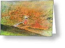 Oriental Duck Greeting Card by Deborah Benoit