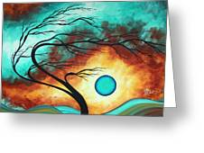 Original Bold Colorful Abstract Landscape Painting Family Joy I By Madart Greeting Card by Megan Duncanson