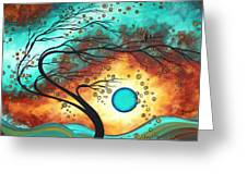 Original Bold Colorful Abstract Landscape Painting Family Joy II By Madart Greeting Card by Megan Duncanson
