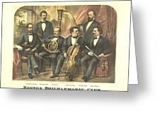 Original Boston Philharmonic Club 1875 Greeting Card by Padre Art