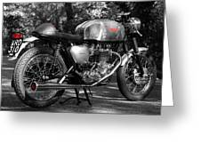 Original Cafe Racer Greeting Card by Mark Rogan