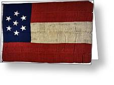 Original Stars And Bars Confederate Civil War Flag Greeting Card by Daniel Hagerman
