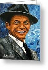 original contemporary painting Frank Sinatra Greeting Card by Enxu Zhou
