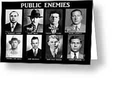 Original Gangsters - Public Enemies Greeting Card by Paul Ward