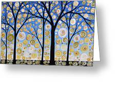 Original Landscape Tree Art Painting .. Sky Magic Greeting Card by Amy Giacomelli