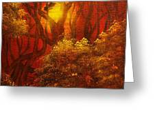 ORIGINAL SOLD-Fairytale Forest- Private Collection- Buy Giclee Print Nr 41 Greeting Card by Eddie Michael Beck
