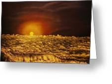 ORIGINAL SOLD-Norwegian Winter Sunset - Private Collection-Buy Giclee Nr 26 Greeting Card by Eddie Michael Beck