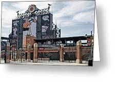 Oriole Park At Camden Yards Greeting Card by Susan Candelario
