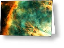 Orion Nebula Fire Sky Greeting Card by The  Vault - Jennifer Rondinelli Reilly