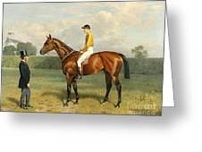 Ormonde Winner Of The 1886 Derby Greeting Card by Emil Adam