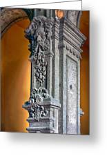 Ornate Mexican Stone Column Greeting Card by Lynn Palmer