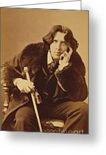 Oscar Wilde 1882 Greeting Card by Napoleon Sarony