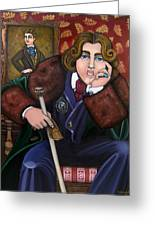 Oscar Wilde And The Picture Of Dorian Gray Greeting Card by Victoria De Almeida