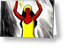 Oshun -Goddess of Love -4 Greeting Card by Carmen Cordova